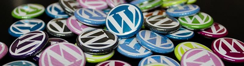 Bunte WordPress Sticker